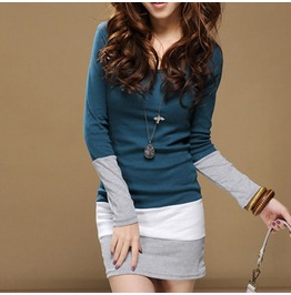 Autumn Winter Women Long Sleeve Knit Bodycon Party Sweater Mini Dress