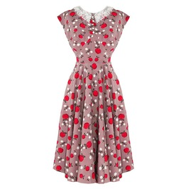Brand New Vintage 40s/50s Style Caramel Apple Print Tea Dress