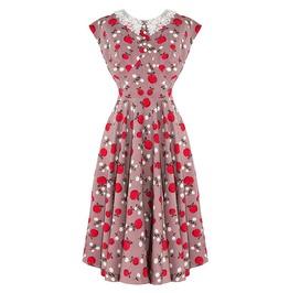Brand New Vintage 40s/50s Style Caramel Apple Print Tea Dress