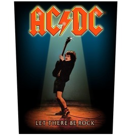 Ac/Dc Giant Back Patch Sew On Let There Be Rock