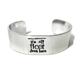 Horror Themed Custom Text Aluminum Metal Stamped Cuff Bracelet 3/4 Inch