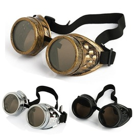 Unisex Steampunk Goggles Black / Silver / Bronze Colors
