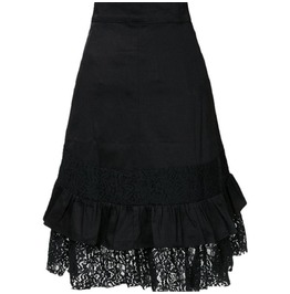 New Gothic Punk Black Lace Skirts