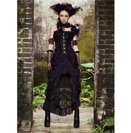 Gothic Punk Women Lace Skirts