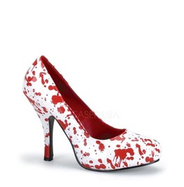 Funtasma Blood Splatter White Zombie Pumps