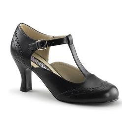 Funtasma Black T Strap Kitten Heels