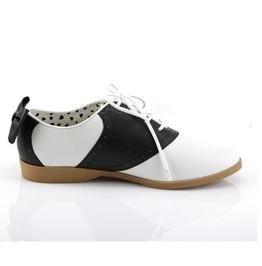 Funtasma Black And White Saddle Shoes With Bow