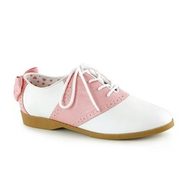 Funtasma Pink And White Saddle Shoes With Bow