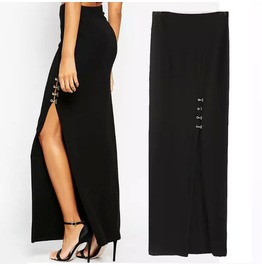 Black Side Split Skirts