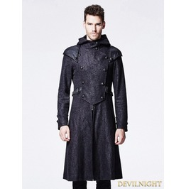 Black Gothic Killer Style Hooded Jacket For Men