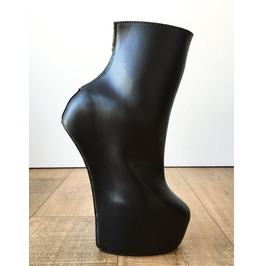 Fetish Stallion Horse Pony Hoof Sole Ankle Bootie Golden Pinup Zip Boots