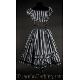 Grey striped gothabilly dress dresses