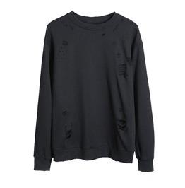 Punk Sweatshirt Ripped Detail