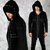 Rebelsmarket stud cross accent mesh black zip up hoodie 104 hoodies and sweatshirts 8