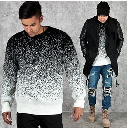 Black Dot Gradation Knit Sweater 38
