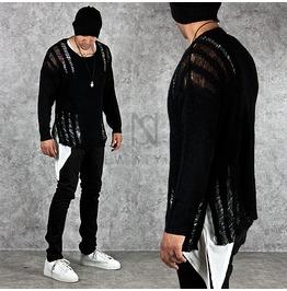 Distressed & Damaged Unbalance Knit Sweatshirts 39