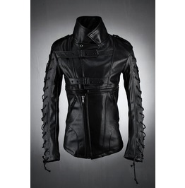 Arm Power String Leather Jacket
