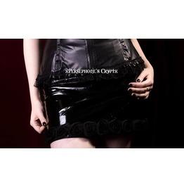 Pvc Rose Trim Mini Skirt, Gothic Skirt, Fetish, Pinup, Burlesque, Glam