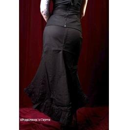 Canvas Fado Ruffled Long Skirt, Gothic Skirt, Glam, Goth