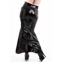 Pvc Ophelia Bow Tail Long Skirt, Gothic Skirt, Fetish, Pinup,Goth