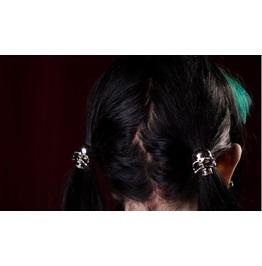 Skull Hair Bands, Set Of 2, Skulls, Gothic Hair Accessories, Horror