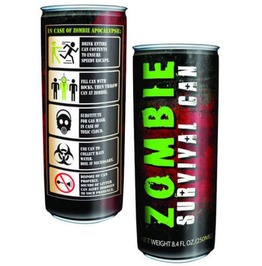 Zombie Survival Can,Zombie Energy Drink, Zombies, Horror, Walking Dead