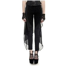 Black Gothic Vtg Victorian Damask Steampunk Leggings Skirt