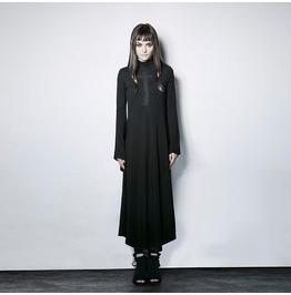 Punk Rock Style Cross Pattern Long Sleeve Dress