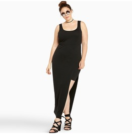 Plus Size Side Slit Maxi Dress