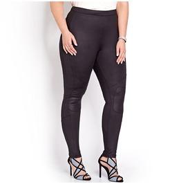 Plus Size Patch Leggings