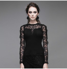 Devil Fashion Gothic Crisscross Front Lace Tops 012