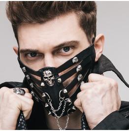 Devil Fashion Steampunk Skull Rivets Studded Face Mask 005