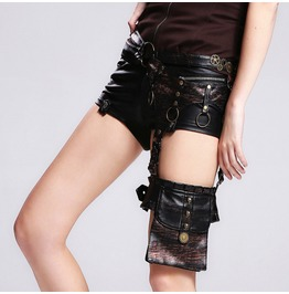 Devil Fashion Punk Rock Skull Gear Studded Waist Bag Belt Bag 01602