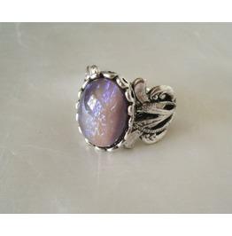 Tanzanite Opal Ring, Goth Renaissance Medieval Victorian Boho Gypsy