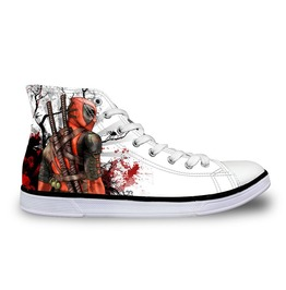 Deadpool Shoes White Shoes Women And Men Shoes Rock Shoes Casual Shoes