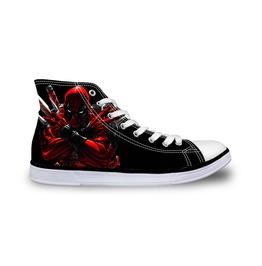 Deadpool Shoes Black Shoes Women And Men Shoes Rock Shoes Casual Shoes