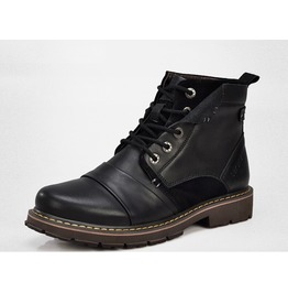 Mens Black/Brown Winter Boots