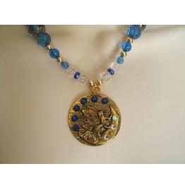 Blue Fairy Necklace, Fantasy Fairytale Victorian Steampunk Elven Cosplay