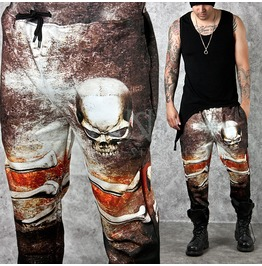 Vintage Skull Bone Printed Sweatpants 206