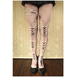 Personalized Tattoo Style Print Pantyhose