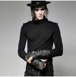 Men's Steampunk Gothic One Hand Fingerless Glove Wristcuff