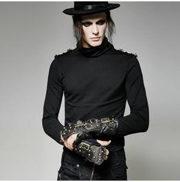 Men's Steampunk Gothic One Hand Glove Wristcuff