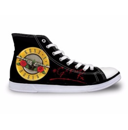 Gun N Roses Shoes Rock Shoes White Shoes Women Shoe Men Shoes Casual Shoes