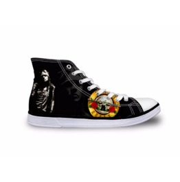 Gun N Roses Shoes Black Shoes White Shoes Women Shoe Men Shoes Casual Shoes