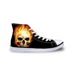 Skull Shoes Hi Top Shoes Women Shoe Men Shoes Casual Shoes Tie Sneaker Shoe