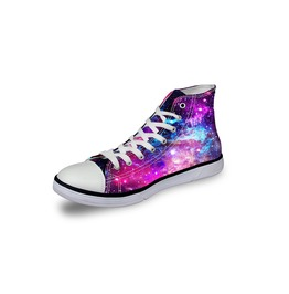 Galaxy Shoes Hi Top Shoes Women Shoe Men Shoes Casual Shoes Tie Sneaker