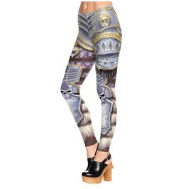 Gaming Skull 3 D Graphic Print Skinny Stretchy Yoga Comfortable Leggings