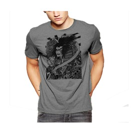 Gothic Samurai T Shirt Dark Warrior Japanese Style Tee By Rancid Nation