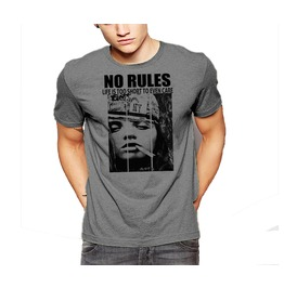 No Rules T Shirt Life Is Too Short To Even Care Rebel Lifestyle Cotton Tee
