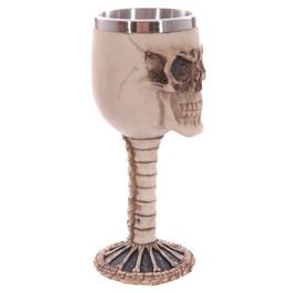 Gothic Skull Head Spine Wine Goblets